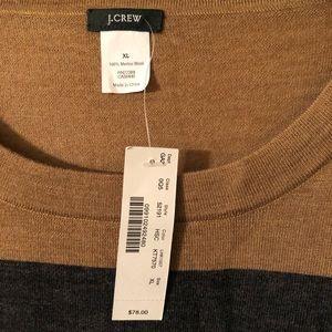 JCrew striped sweater NWT